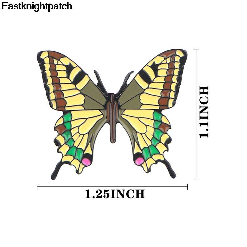 Kelebek karikatür çinko alaşımı kravat pimleri rozetleri para tişört çanta giysi kapağı sırt çantası ayakkabı broş madalya dekorasyon kadınlar için E0913