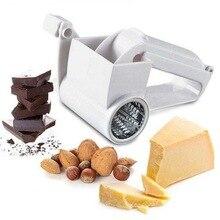 Hoomall 1 шт. терки для сыра и овощей, имбирный шоколадный нож, ручная крученая терка для сыра с барабаном из нержавеющей стали