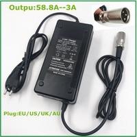 58.8V3A 충전기 58.8v 3A 전기 자전거 리튬 배터리 충전기 48V 리튬 배터리 팩 XLR 플러그 58.8V3A 충전기