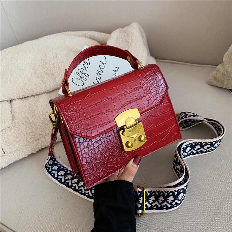torebki damskie,Styl Vintage mała torebka damska wzorek z aligatorem koreański moda damska torebki Mini Lady torebka 2019 moda marka torby damskie