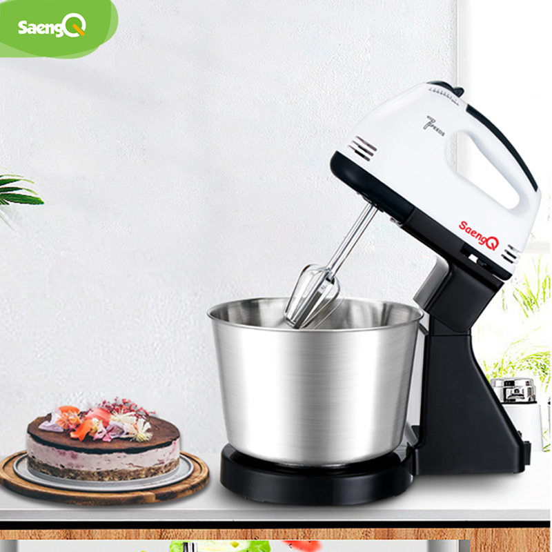 SaengQ 220V 7 Speeds Multifunction Electric Food Mixer Hand Blender Dough Blender Egg Beater Hand Mixer For Kitchen