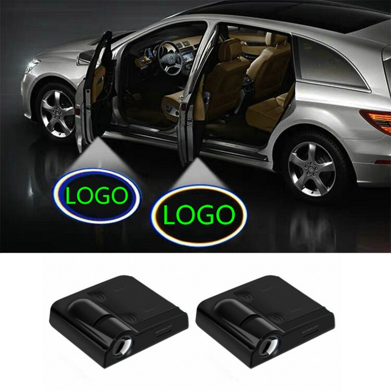 2X Car Led Door Light Ghost Shadow Logo Laser Projector Welcome Light For Skoda Octavia A7 Mazda Cx3 Cx-3 Cx5 Cx-5 Mazda 3 2019