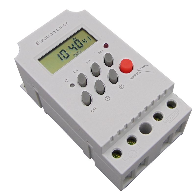DIN RAIL DIGITAL PROGRAMABLE temporizador interruptor de tiempo 220VAC 25A interruptor de tiempo din rail interruptor de tiempo KG316T-II