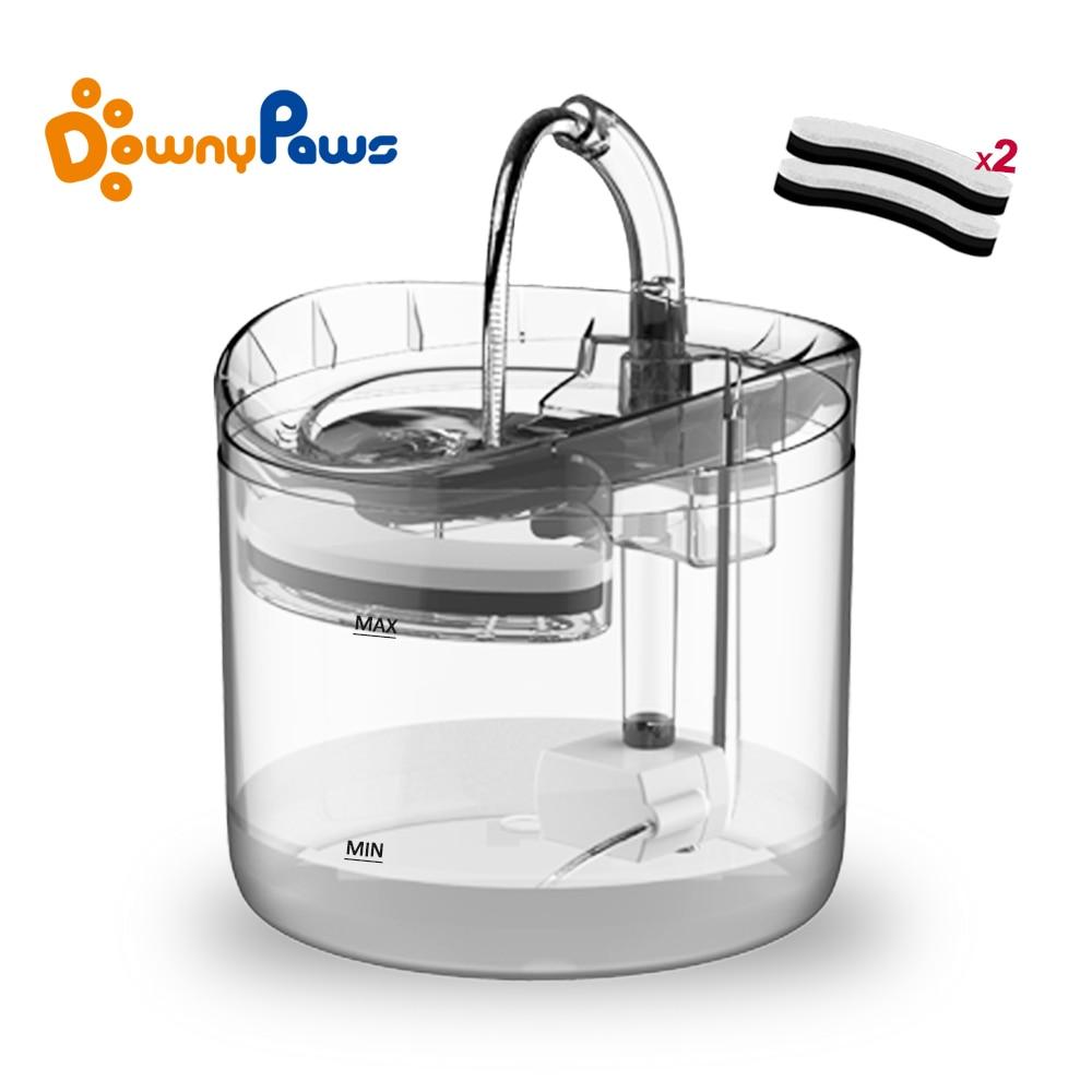 1.8L automatyczna fontanna wodna dla kota z kranem dozownik do wody dla psów przezroczyste poidła dla kotów Pet miska do picia filtr podajnik