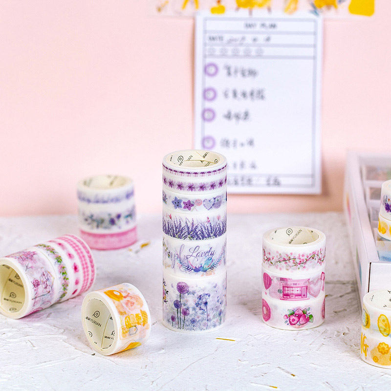 Paper-Tape Masking Decorative Journal Flower Cute Stationery Sticker 100pcs/Set DIY Diary