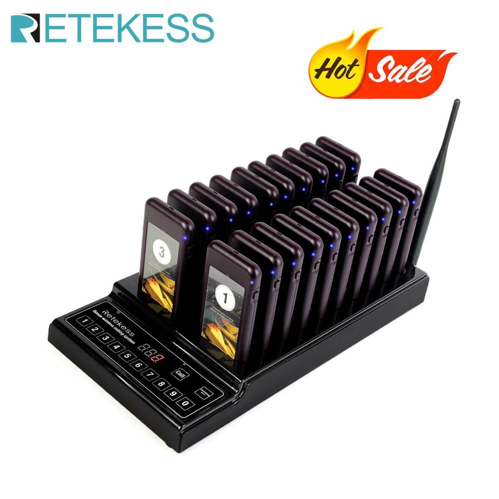 RETEKESS T112 999 채널 무선 레스토랑 페이징 시스템 대기열 시스템 레스토랑 호출기 웨이터 레스토랑 호출 시스템