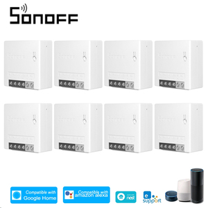 Image 1 - 8Pcs SONOFF R2 Mini WiFi Smart Switch DIY Appliance Automation Remote Control Switch Timer for Alexa Google Home WiFi Switch