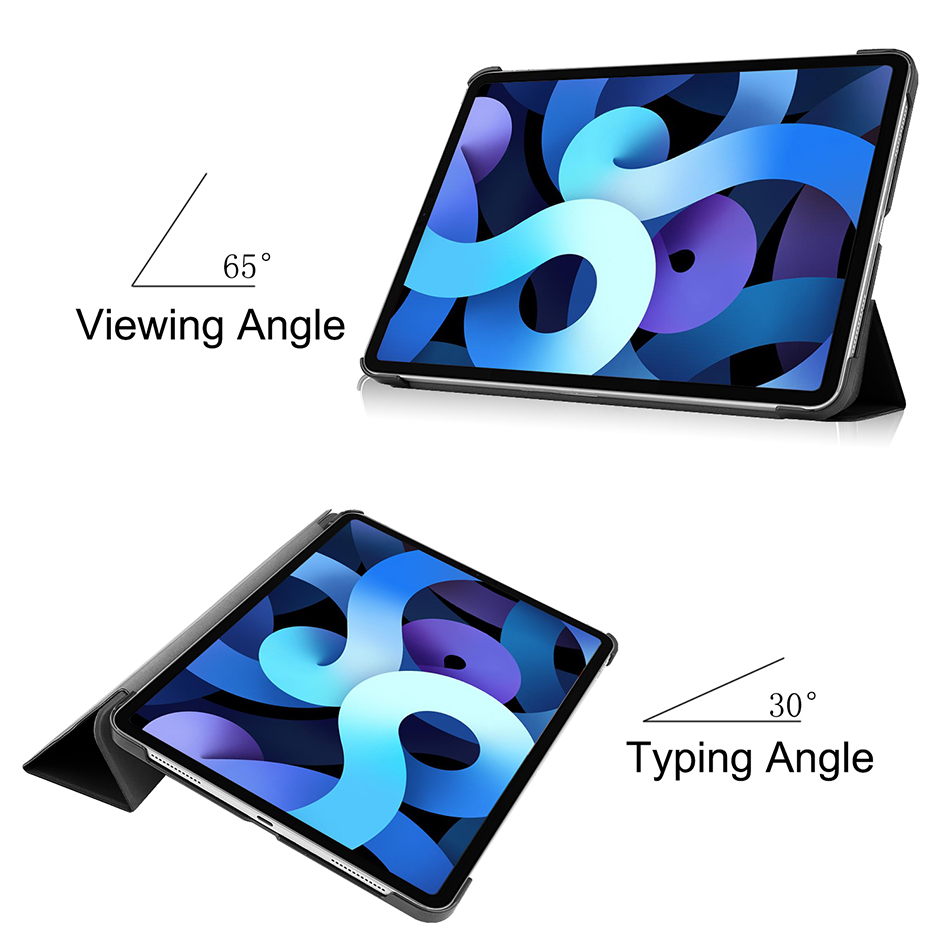MTT Tablet Case For iPad Air 4th Generation 10 9 inch 2020 PU Leather Folio Flip