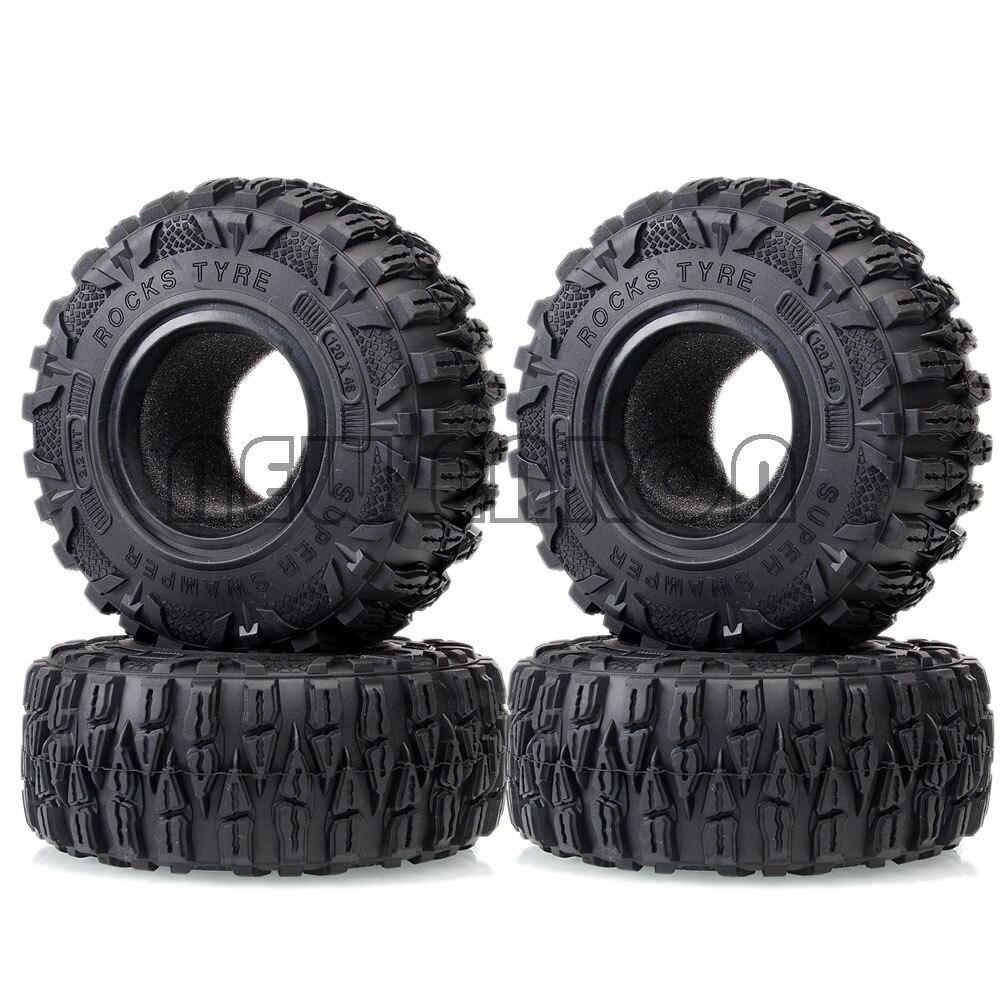 "Nouveau ENRON 2.2 ""Super Swamper roches pneu 120MM pour 1:10 RC SCX10 90046 D90 CC01 TRX4 Traxxas TRX-4 Tamiya CC01 MST jimny RC4WD"