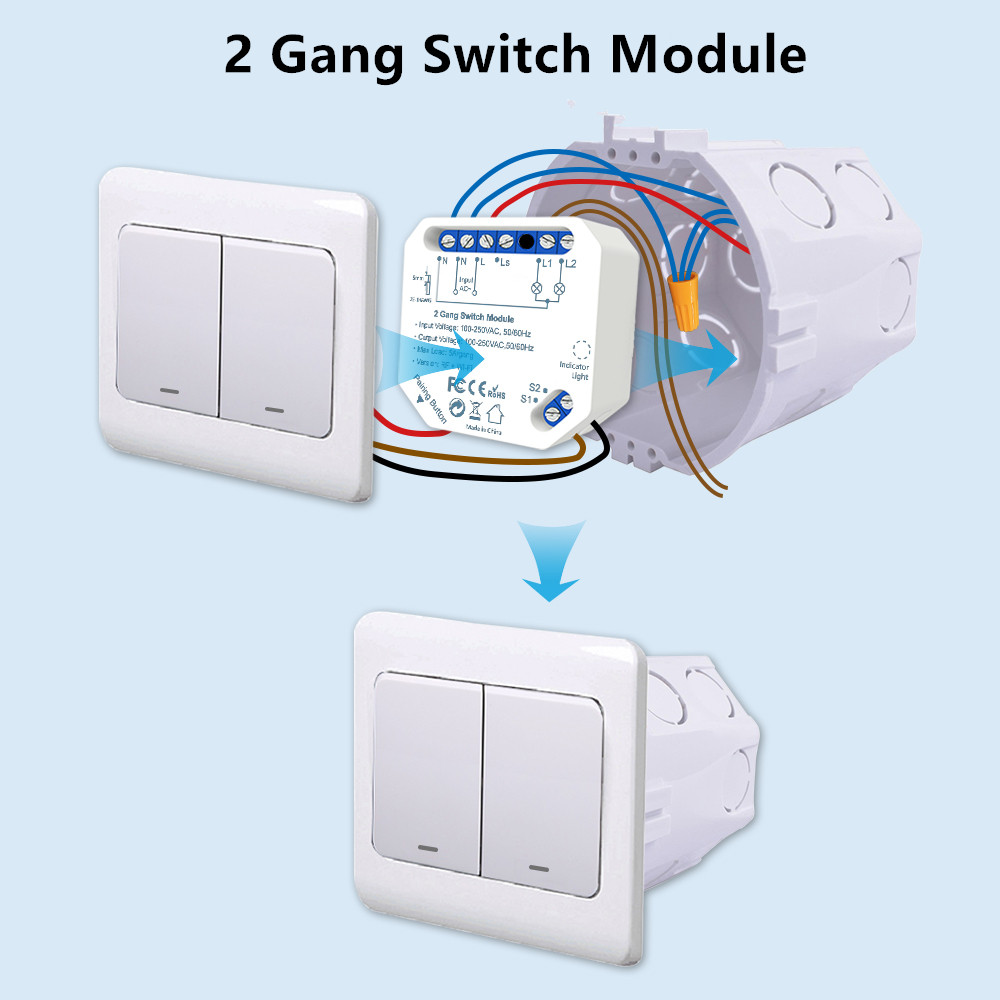 Módulo Doble Interruptor Wifi