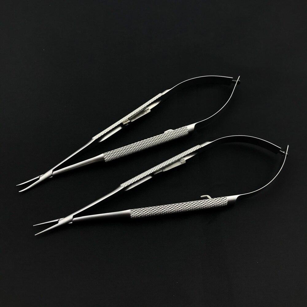 12 5 18cm com os suportes da agulha de castroviejo do fechamento instrumentos cirurgicos oftalmicos oftalmologicos