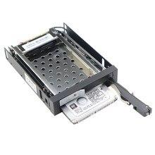 Gabinete de metal completo 2 bay 2.5 Polegada sata ssd, gabinete de rack móvel com cabos de dados de energia para floppy de 3.5