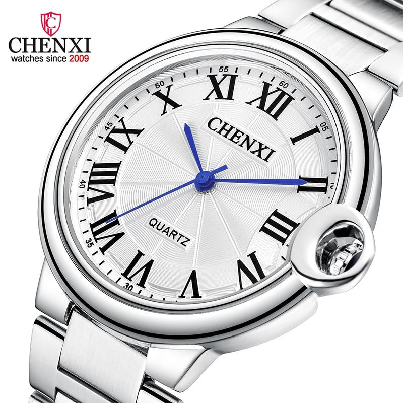 Classic Simple Men Watches Silver Stainless Steel Waterproof Women Men Lover's Quartz Wristwatch Roman Numeral Casual Clock