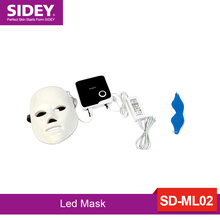 SIDEY micro light LED facial mask with neck skin rejuvenation face care treatment beauty anti acne therapy whitening instrument photodynamic led facial mask daily beauty instrument anti acne skin rejuvenation led photodynamic beauty mask for face neck ear