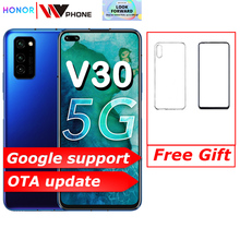 Original Honor V30 Kirin990 Octa core 5G Smartphone 6GB 8GB 128GB 40mp Triple Camera 40W SuperCharge
