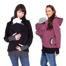 Женская одежда для беременных, грудного вскармливания, Детская сумка-кенгуру с капюшоном на молнии, пальто для беременных, утепленная одежда для беременных