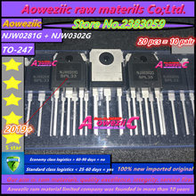 Aoweziic 2019+ 20 PCS = 10pair 100% new imported original NJW0281G  NJW0302G NJW0281G NJW0281 NJW0302 TO 247 Audio matching tube
