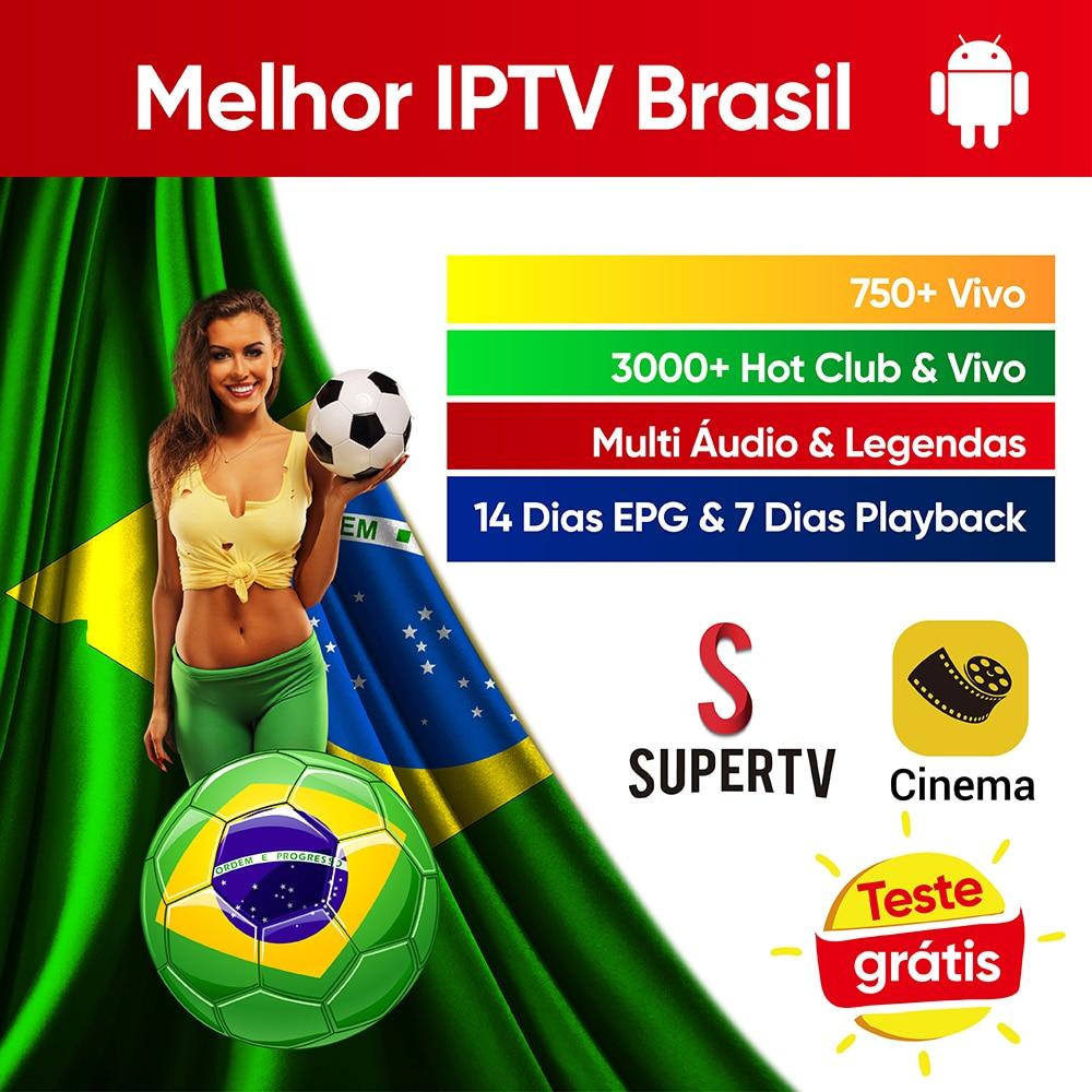 Supertv IPTV Brazil 750+ Live Multi Audio & Subtitle Portuguese IPTV 24h Hot Club Live For Android Tv Box Phone IPTV Brazil