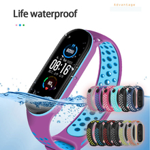 Watchband Strap For Xiaomi Mi Band 6 TPU Wristband Smart Dual Color Breathable Strap For Mi Band 6 Fitness Bracelet Accessories