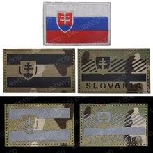 Eslováquia infravermelho reflexivo ir remendo exército militar tático braçadeira emblema república eslovaca emblema remendos bordados apliques