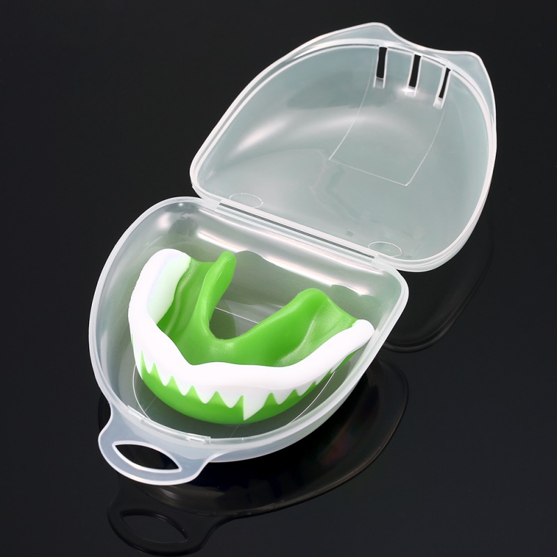 Teeth Protector Mouthguard With Box Sports Boxing Mouth Guard Tooth Brace Protection For Boxing Braces Rugby Ball Boxing