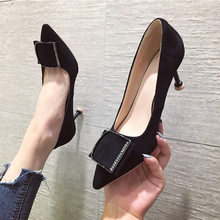 Women Pumps Shoes Rhinestone Thin Heels Pointed Top Flock Evening Shoes Stiletto Crystal Heels Sexy Shoes Black High Heels Mujer aidocrystal custom color rhinestone shoes evening party crystal platforms pumps fashion women dress high heels