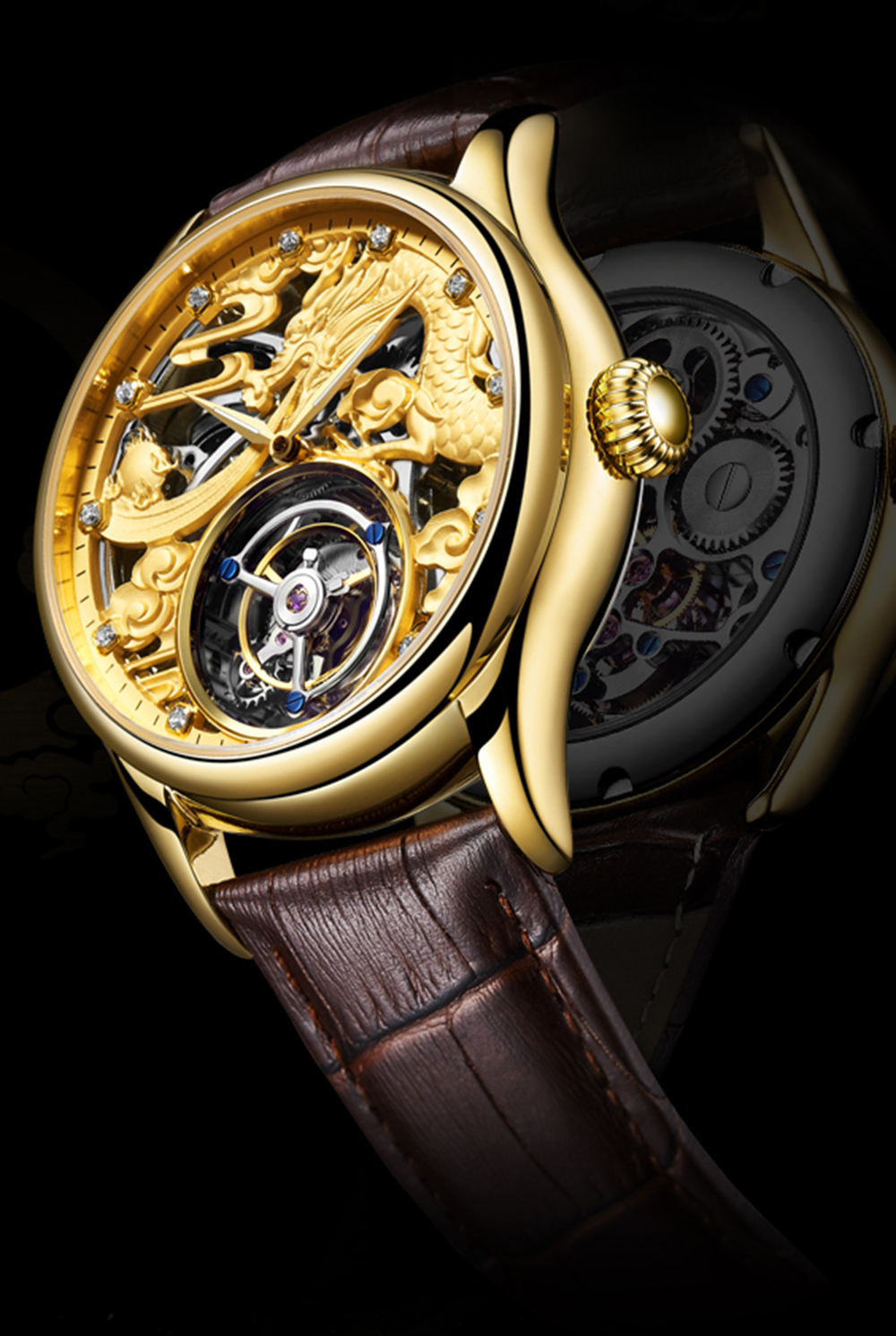 New GUANQIN Original Tourbillon watch men top brand luxury waterproof skeleton Sapphire Mechanical Tourbillon relogio masculino 17