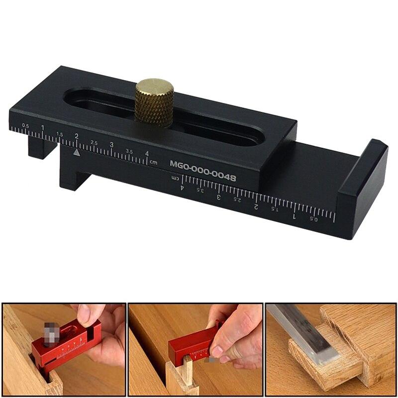 5-40mm Holz Mini Lücke Gauge Aluminium Legierung Tiefe Mess Sägezahn Herrscher Kennzeichnung-Mess Werkzeuge