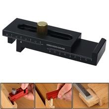 Mini medidor de calibre de liga de alumínio, madeira, 5-40mm, para trabalho em madeira, medidor de profundidade, ferramentas de medição