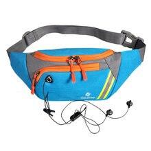 Мужская нагрудная сумка с карманами для бега фитнеса многофункциональная