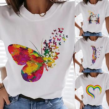 Kobieta koszulki tęczowe nadrukowane litery zabawne koszulki O szyi letnie słodkie koszulki koszulki topy T Shirt dla dziewczyny Женские Футболки Femmes tanie i dobre opinie ISHOWTIENDA CN (pochodzenie) Lato Poliester Krótki REGULAR Dzianiny Drukuj NONE Na co dzień Osób w wieku 18-35 lat O-neck