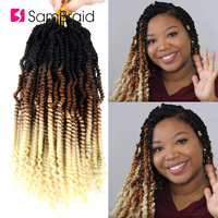 SAMBRAID Bomb Spring Twist High Temperature Fiber Synthetic Crochet Hair Extensions Crochet Braiding Hair Color For Women