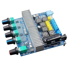 Placa amplificadora Bluetooth 2,1 de 5,0 canales, amplificador de Audio estéreo de alta potencia, 2x50W + 100W, DC12V 24V AMP, TPA3116D2