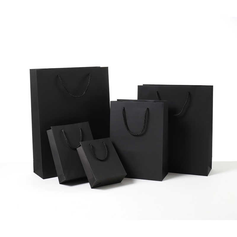 Paper Clothes Package Black Paperboard Gift Bag Birthday Festival Christmas Party Gift Bag Various Sizes 40x10x30cm
