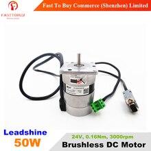 50W Leadshine Brushless DC Motor 24V BLM57050 Brushless DC Servo Motor 0.16Nm 3000rpm New