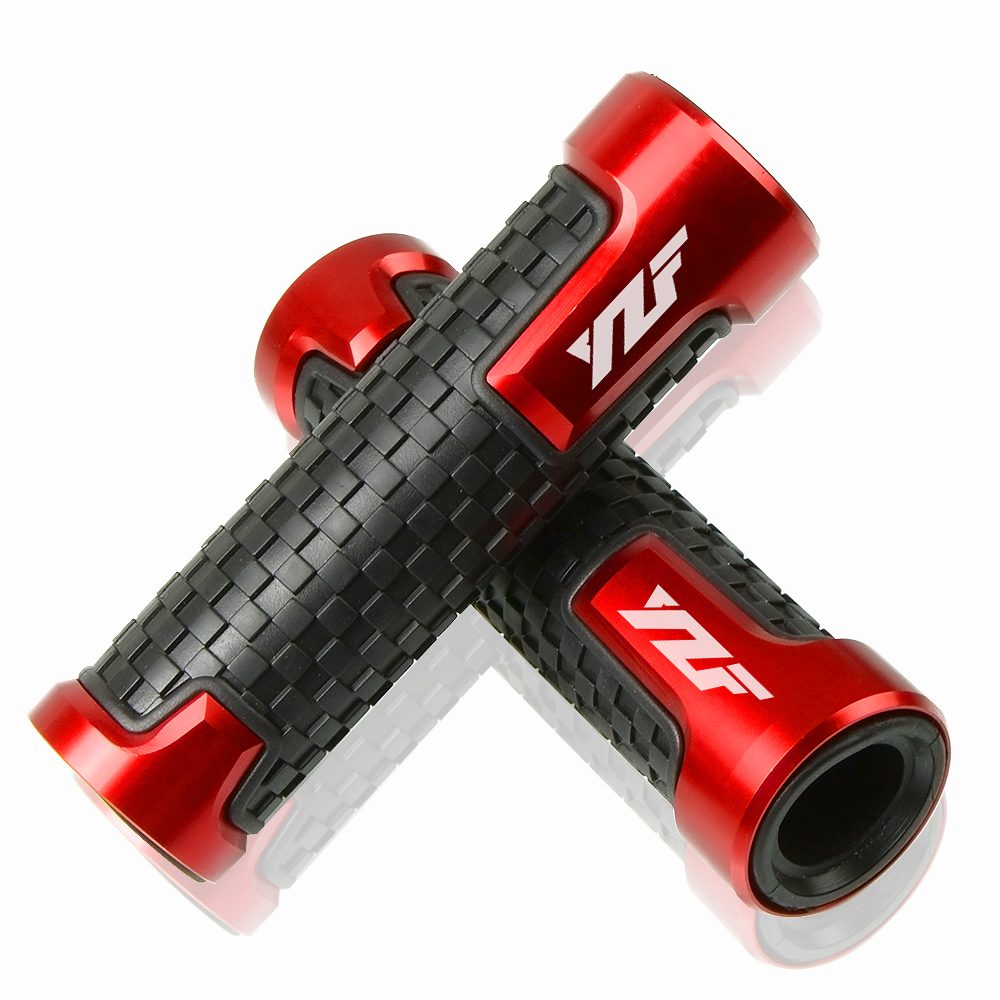 Motorcycle 7 8 quot 22mm Bicycle Grips Precision CNC machined Handlebar Grips Bar Cap Motor Hand Bar for Yamaha YBR125 in Grips from Automobiles amp Motorcycles