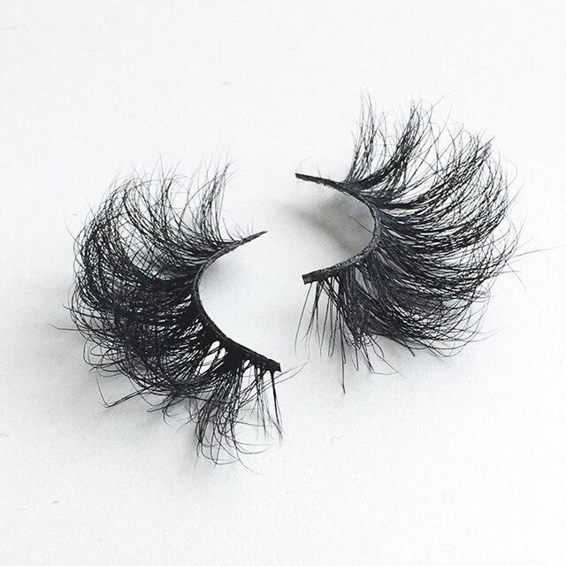 3D 25mm Mink Hair False Eyelashes Natural Long Wispies Lashes Handmade Criss-cross Eyelash Extension Makeup Tools in Bulk 4