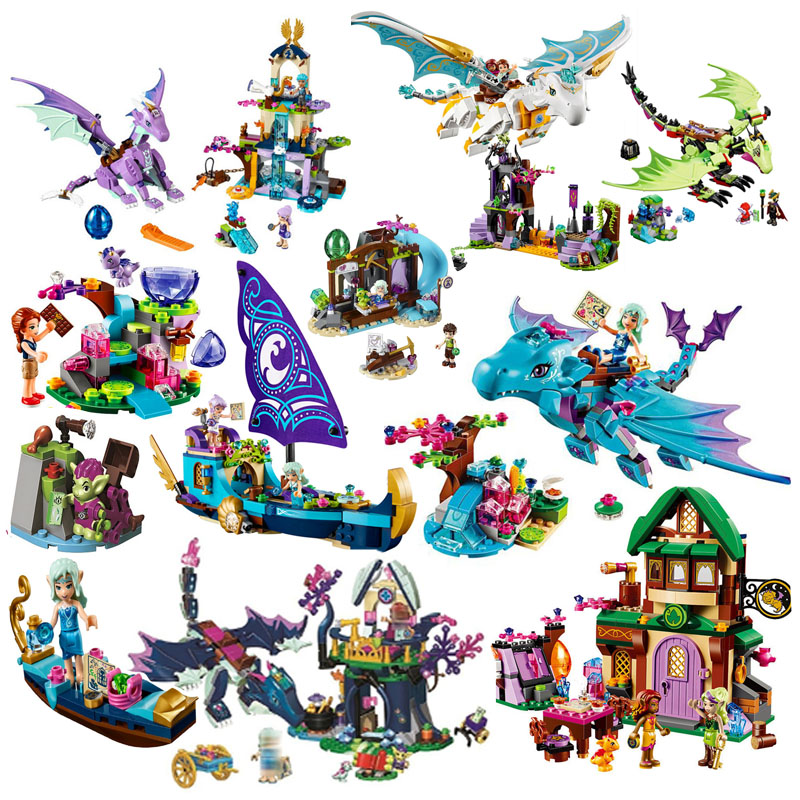 Bela Elves 10549 The Dragon Sanctuary Building Bricks Blocks Diy Educational Toys Compatible With Legoinglys 41178 Friends