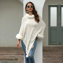 KALENMOS/осенне-зимние свитера, плащи, женские пуловеры с воротником из искусственного меха, Вязаная Шаль, верхняя одежда, элегантные плащи, плюшевая обертка