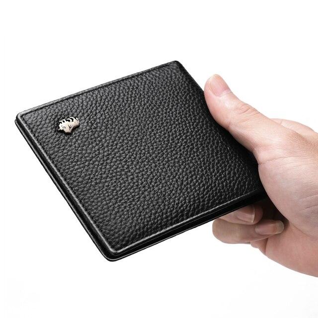 RFID Men Wallets Genuine Leather