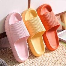 Pantoufles à semelle épaisse pour femmes, sandales de plage à semelle souple EVA, chaussures antidérapantes d'intérieur de salle de bain pour hommes ou couples