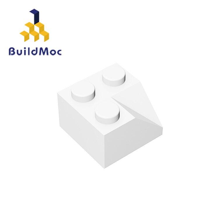BuildMOC Assembles Particles 3046 2x245°sloped Corner Roof For Building Blocks Parts DIY  Educational Bricks Toys For Children
