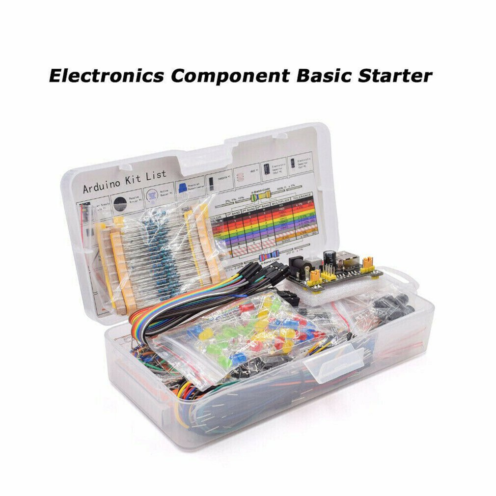 Electronic Component Assorted Kit For Arduino Raspberry Pi STM32 With 830 Tie-points Breadboard Power Supply Set