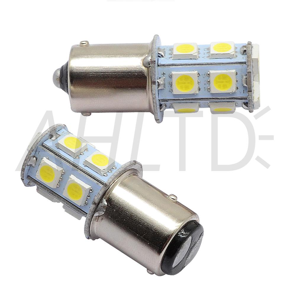 hviero 1156 BA15S P21W 1157 BAY15D Red Strobe Lamp 5050 13SMD Super Bright LED Bulbs 12V Car Brake Turn Signal Tail Flashing Light DC 12V 3