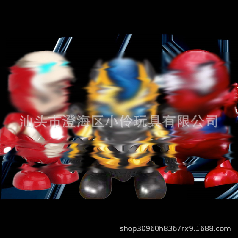 Douyin Celebrity Style Hot Selling Children Electric Dancing Robot Music Lights Will Dancing Robot Toys