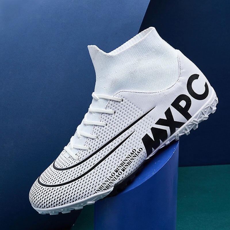 MWY Fußball Schuhe Für Männer Fußball Stiefel Kinder Hohe Ankle Fußball Stollen Wasserdichte Sport Turnschuhe Futsal Schuhe Zapatillas Hombre