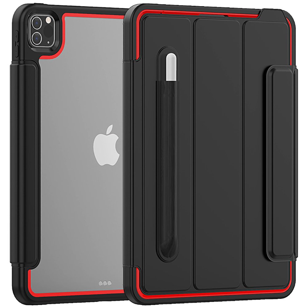 Red Red Clear Case for iPad Pro 11Inch 2020 Tough Flexible Cover Ultra Thin Air Guard Corner Protective