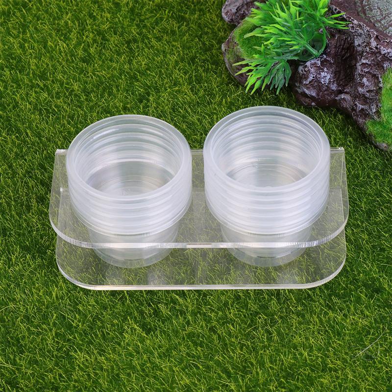 1pc Reptile Feeding Bowl Food Water Dish Food Water Feeding Tool Reptile Supplies With 10 Bowls Without Magnet