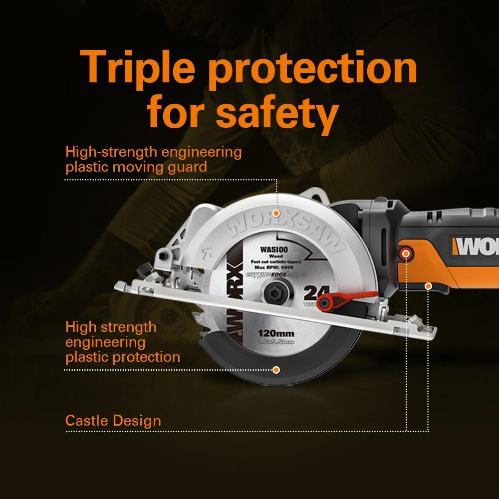 Function Saw WX439 Machine Circular Electric Saw Worx Power Multi Cutting Tools Saw Household 120mm Handheld 500W Mini Compact