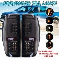 Pair LED Tail Light Energy Saving Rear Tail Light Lamp For Ford Ranger T6 T7 PX MK1 MK2 Wildtrak 2012 2013 2014 2015 2016 2019